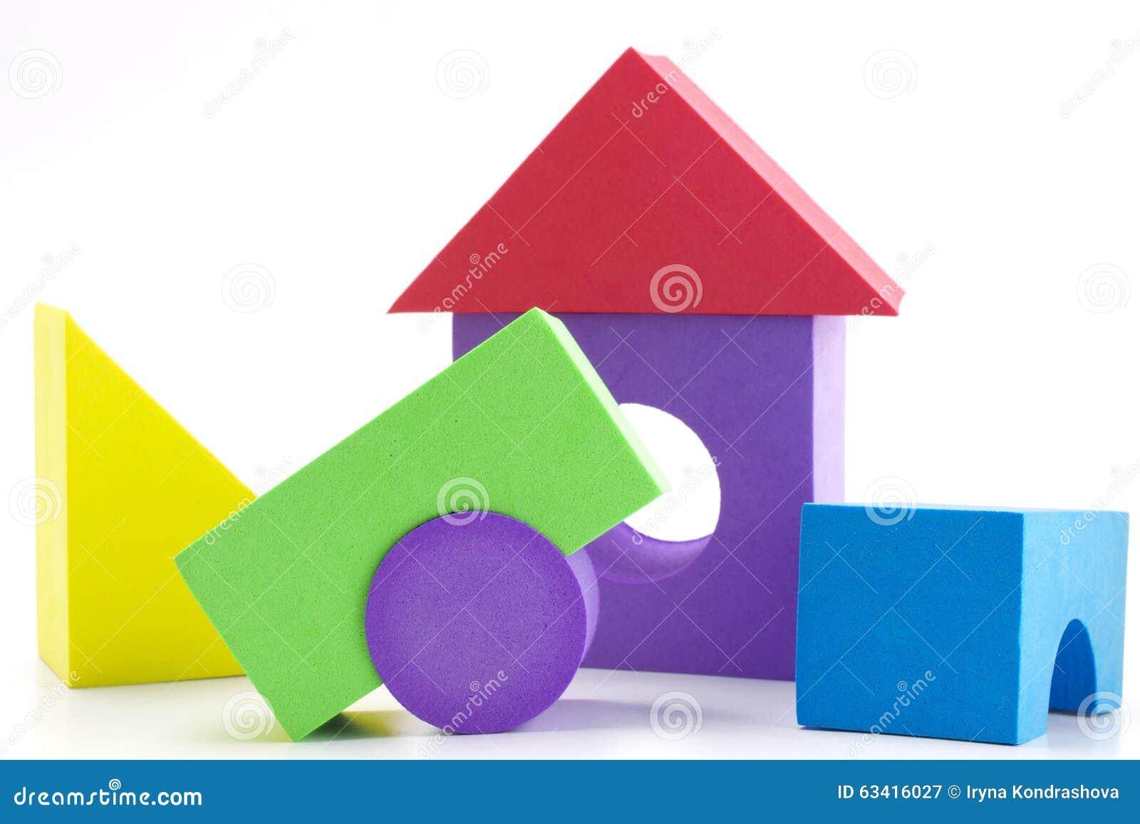Children building blocks stock photo image 63416027 for Foam block construction house plans