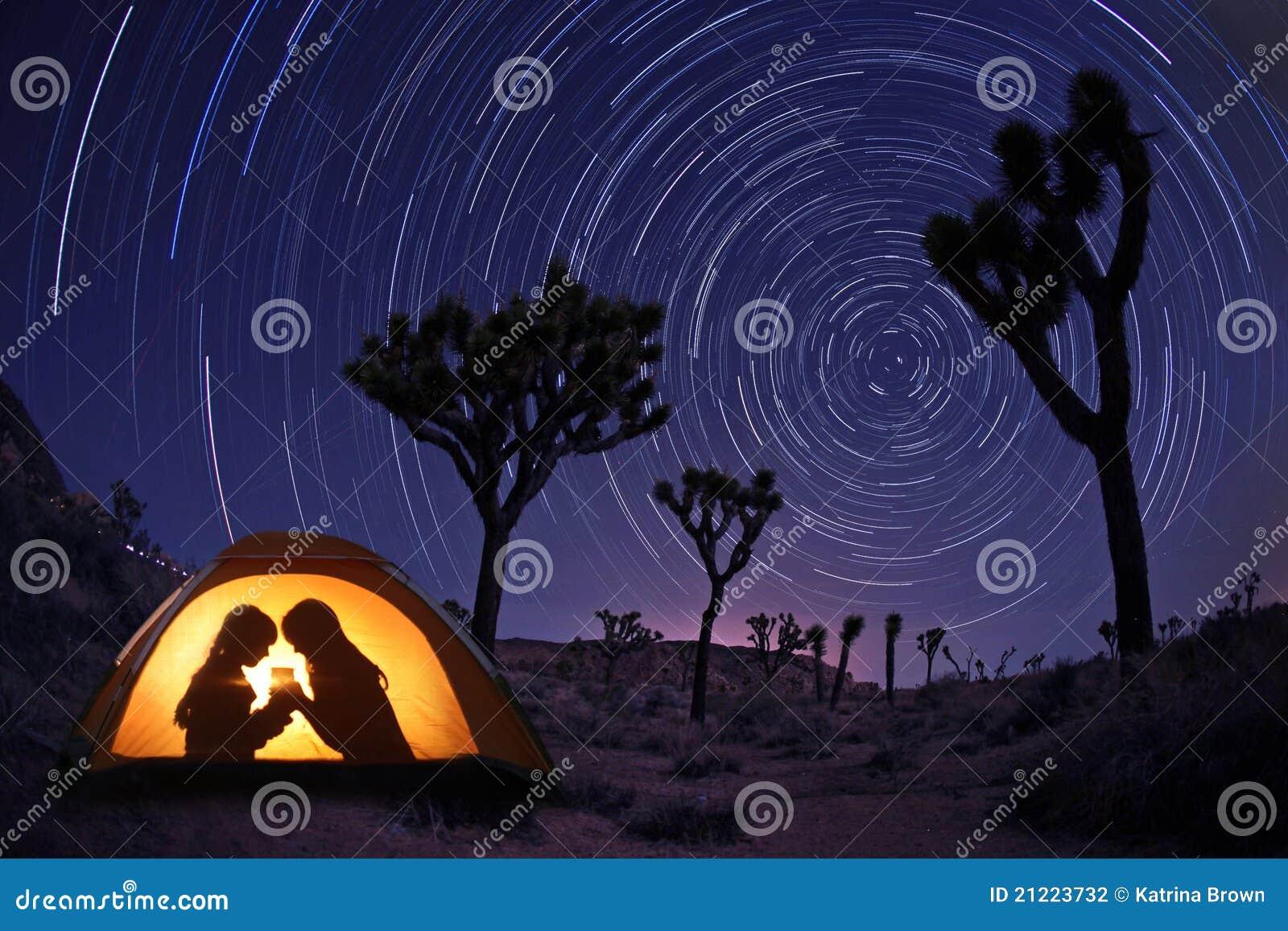 Children C&ing at Night in a Tent & Children Camping At Night In A Tent Stock Photo - Image of summer ...
