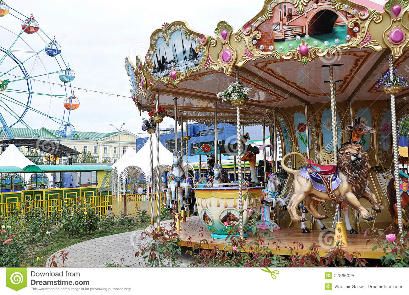 Children carousel czerepy