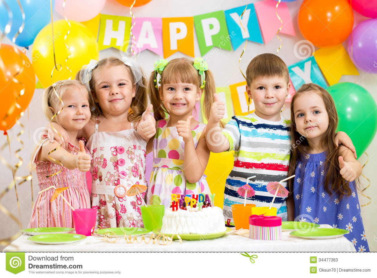 children celebrating birthday party stock image image of indoors