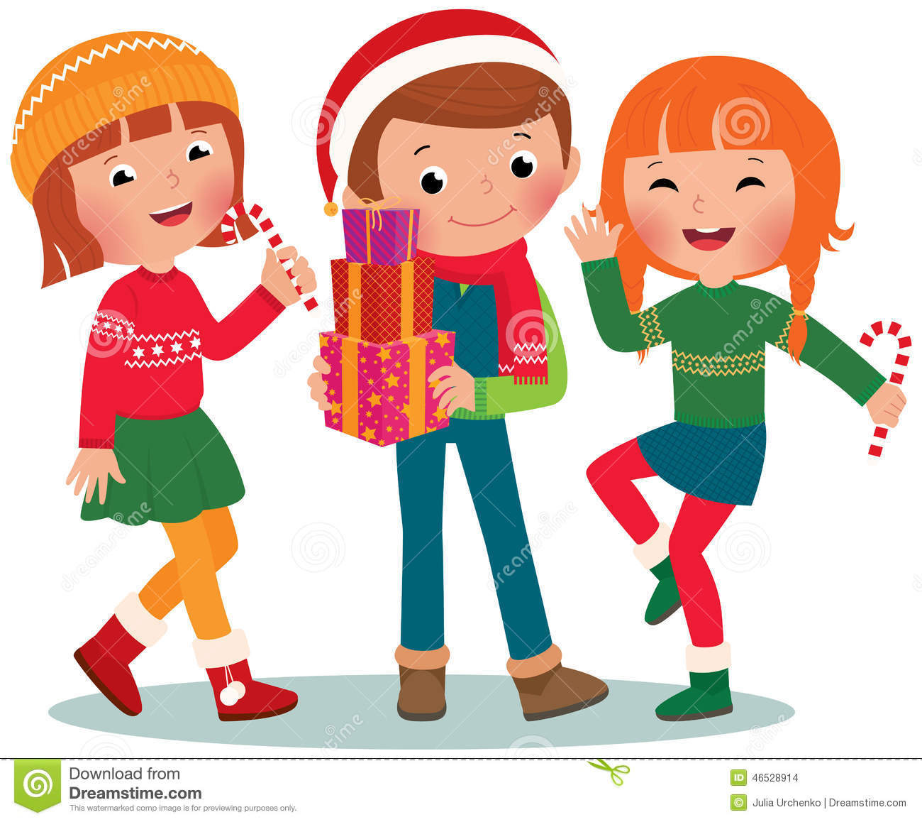 Christmas Children Party: Children Christmas Party Stock Vector. Illustration Of