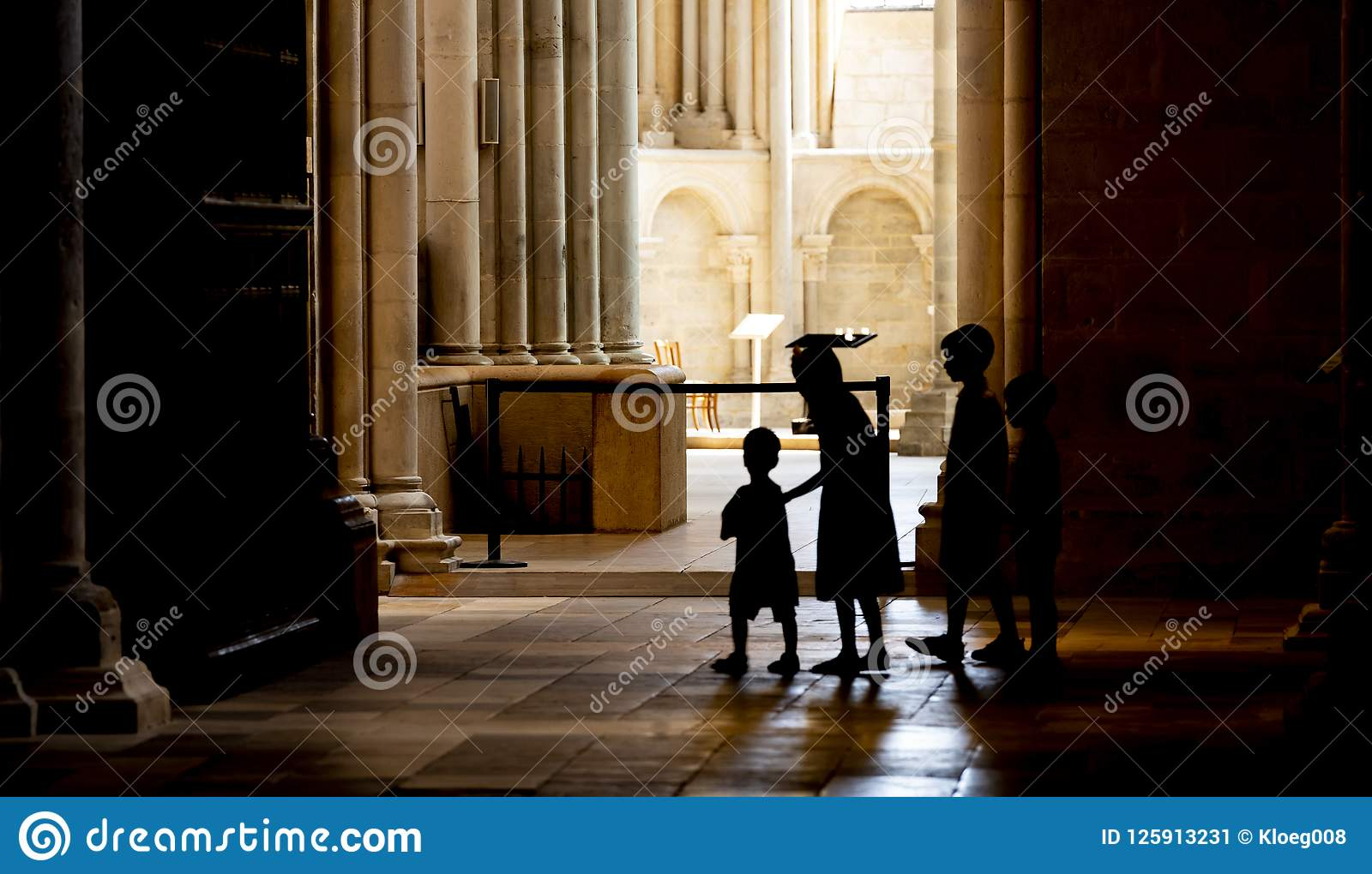 Children in the Church of Vezelay Service