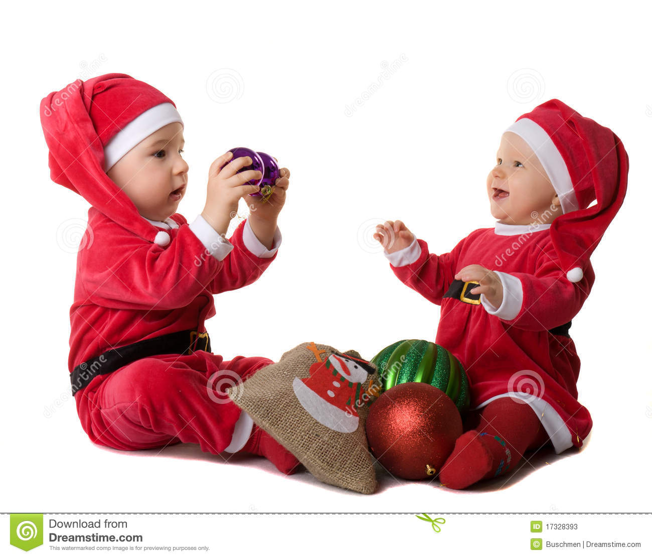 children in the clothes of santa claus cute together - Santa Claus Children