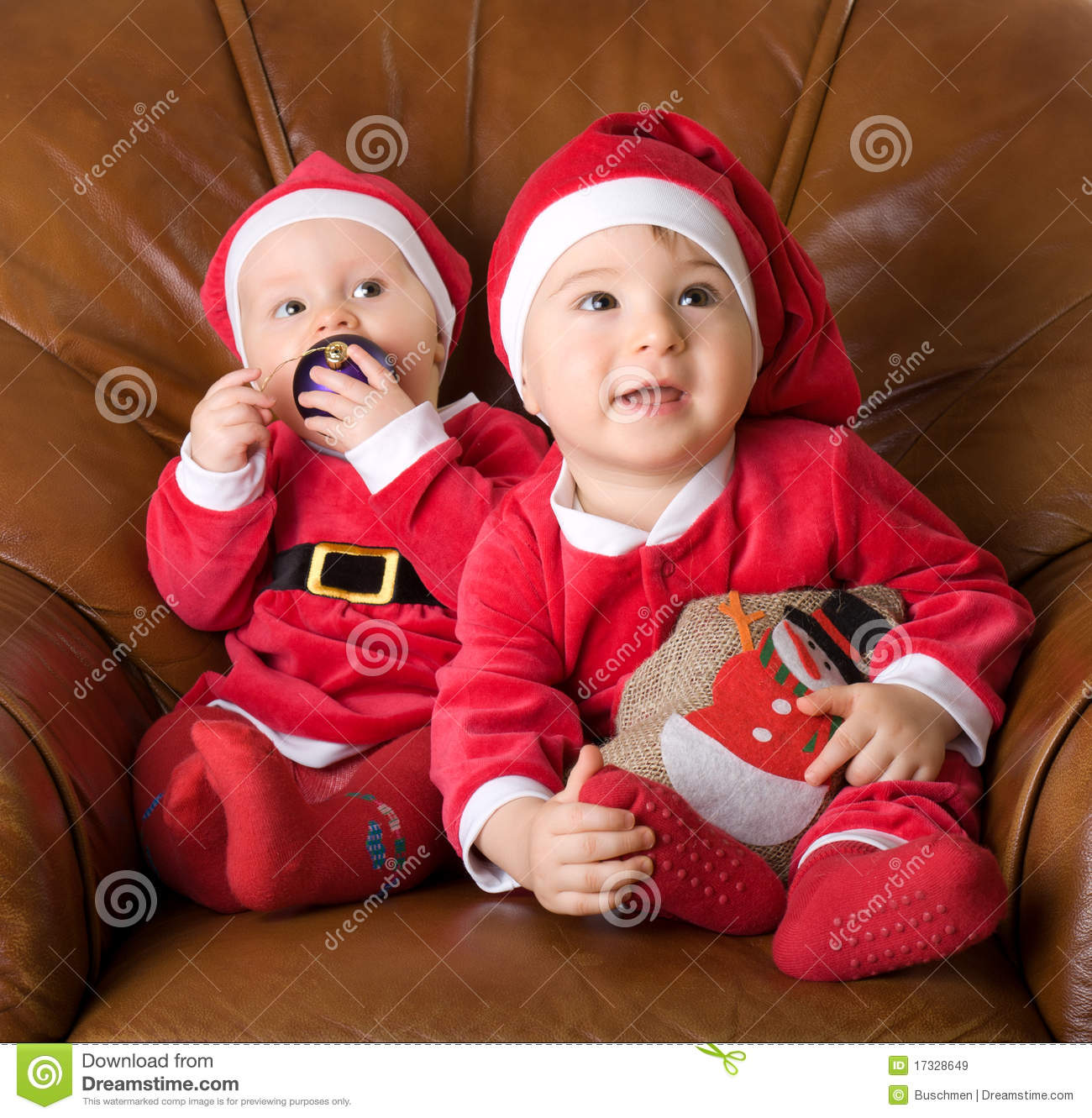 children in the clothes of santa claus - Santa Claus Children