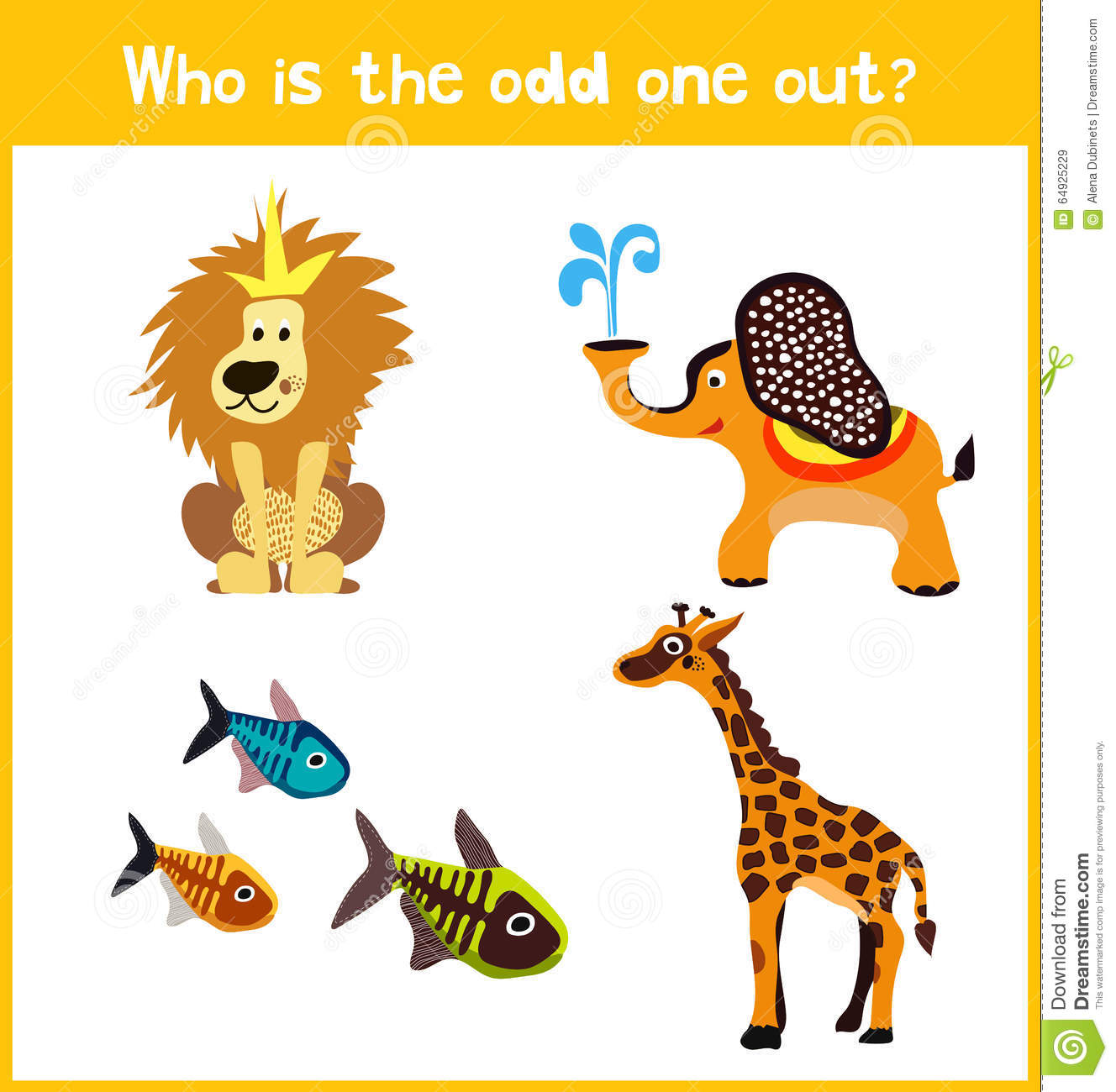 children colorful educational cartoon game puzzle page for