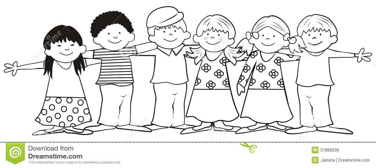 Children-coloring book stock vector. Illustration of dress ...