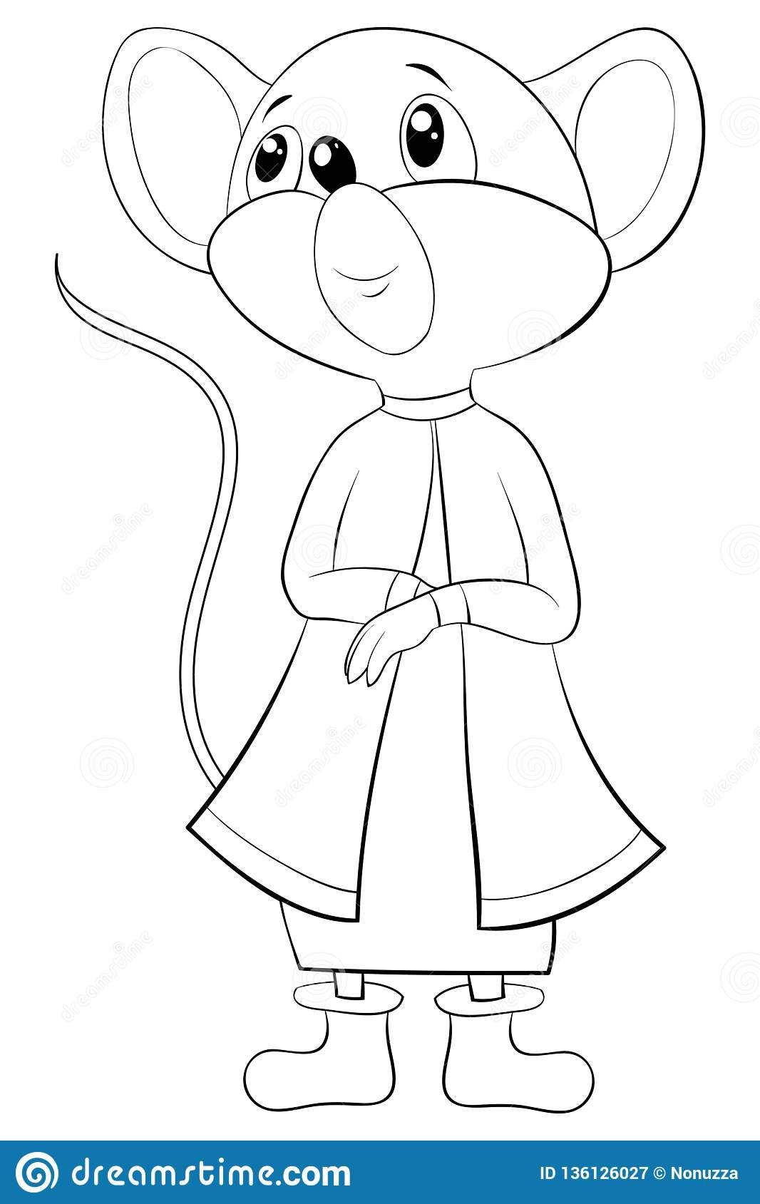 A Children Coloring Book,page A Cute Mouse Image For ...