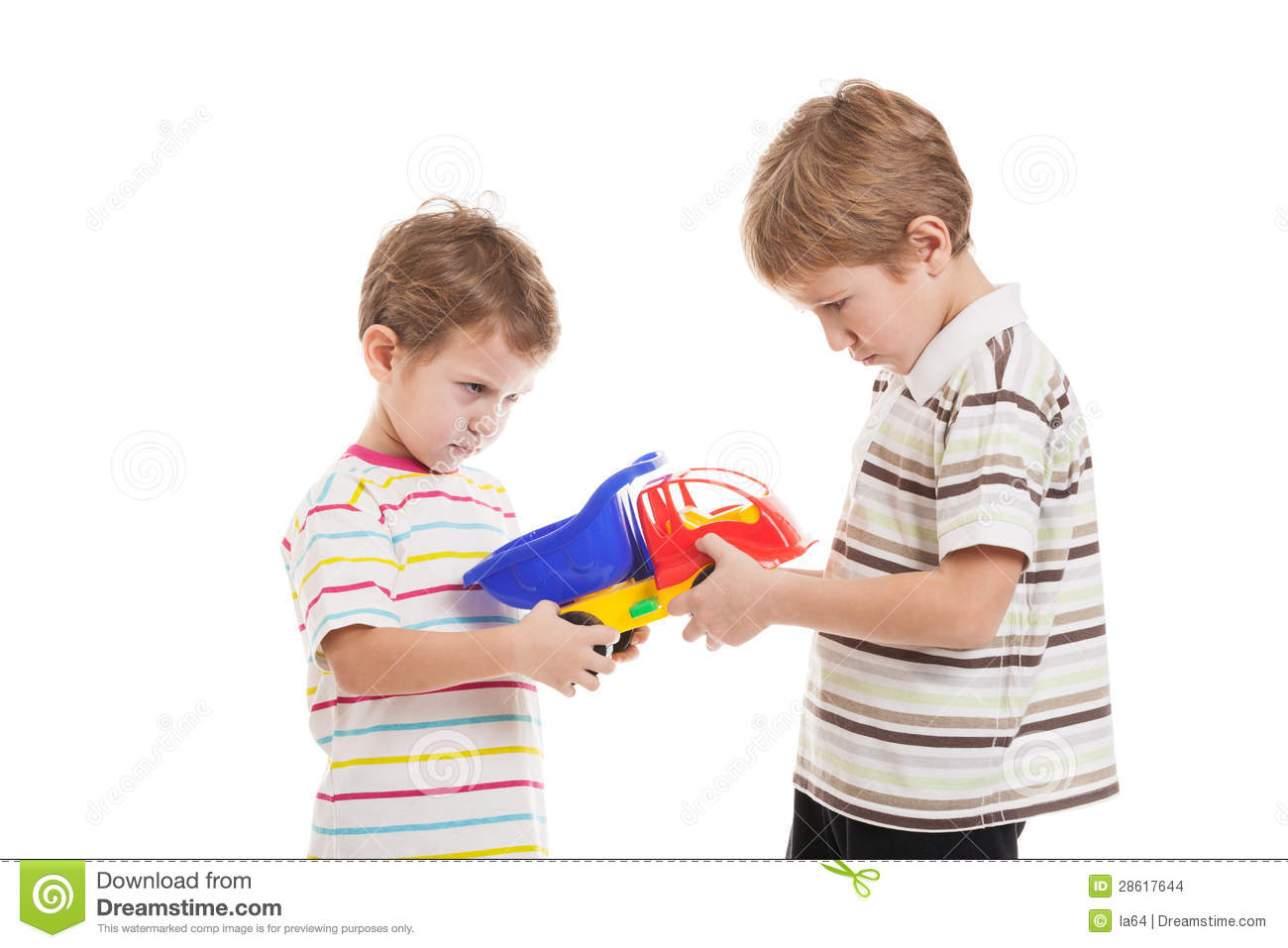 Children In Conflict Fight For Toy Stock Photo - Image ...