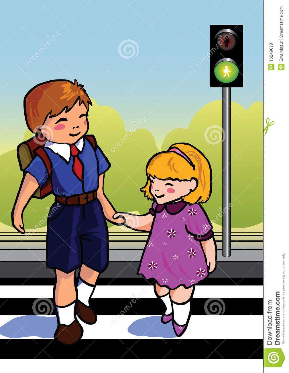 children crossing street royalty free stock photos image 16249698 High School Graduation Clip Art girl education clipart
