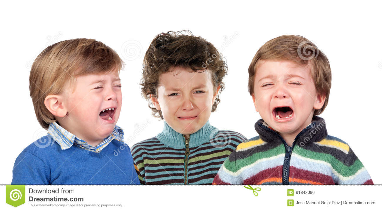 children-crying-isolated-white-backgroun