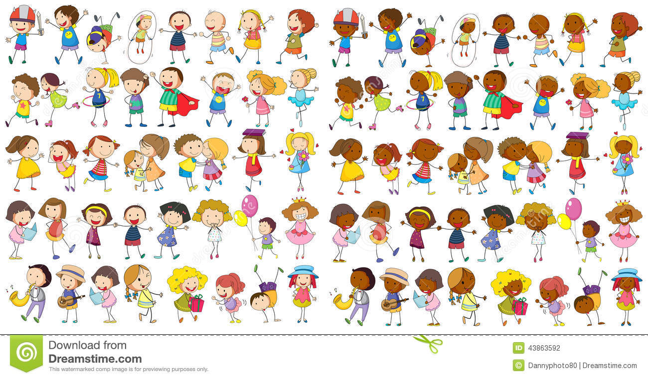 children cultural stock vector image 43863592 kids running clip art black white kids running clip art black and white