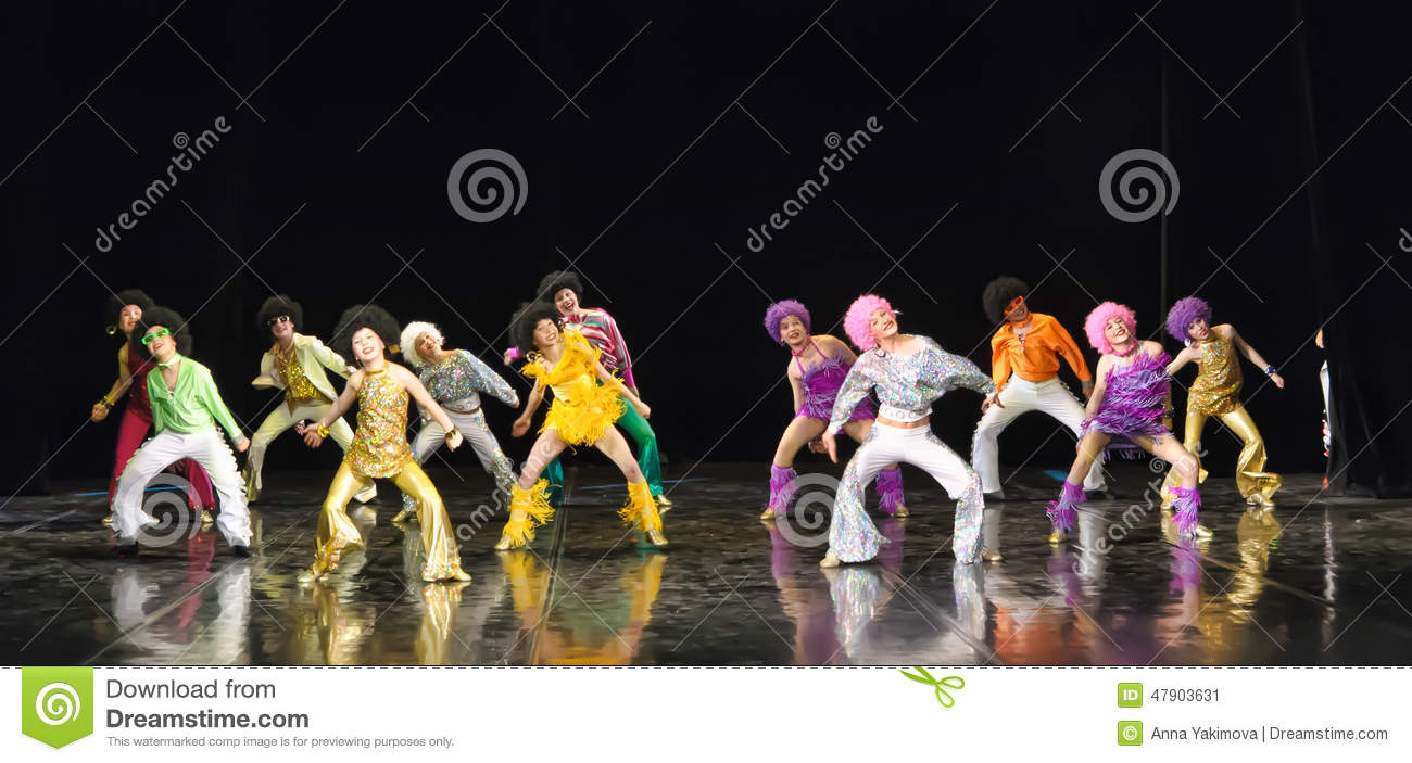 Children Dancing On Stage Editorial Photo