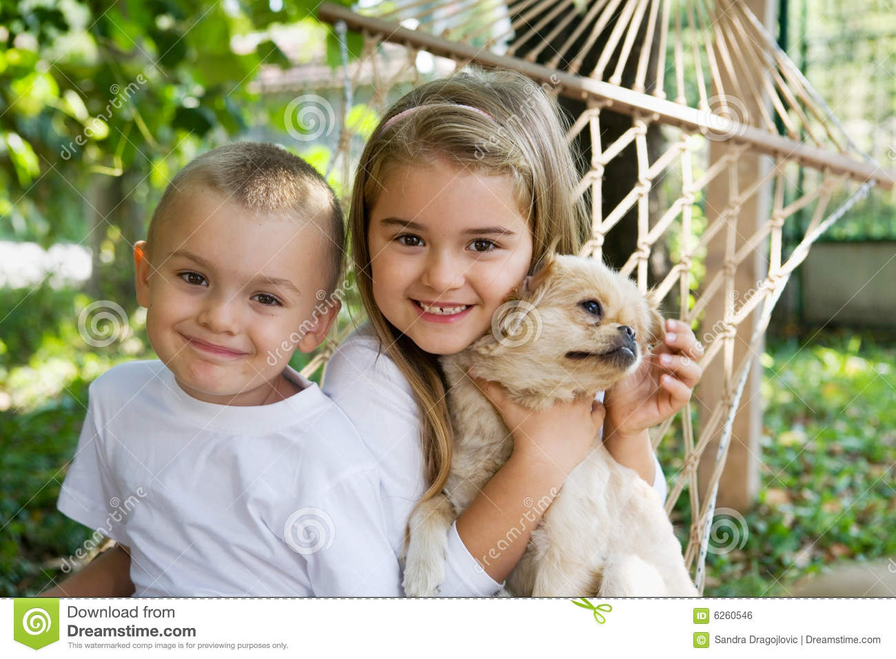 Children and the dog