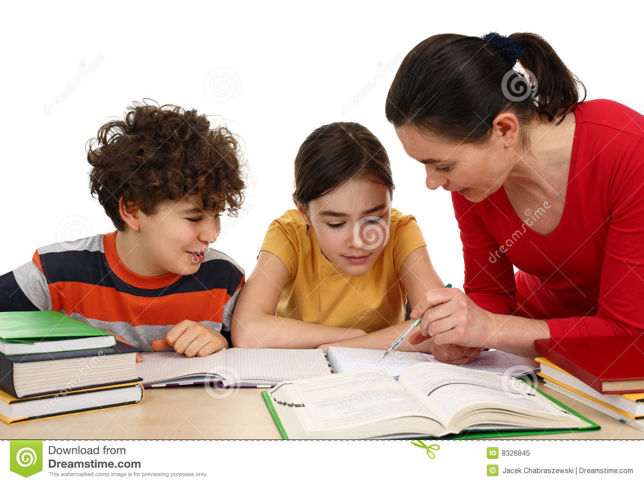 Children Doing Homework Royalty Free Stock Photo Image