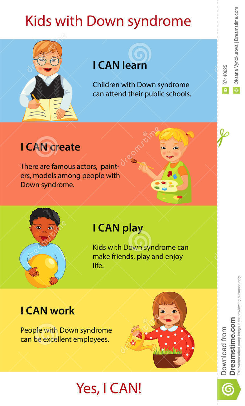 Children with Down syndrome facts infographics