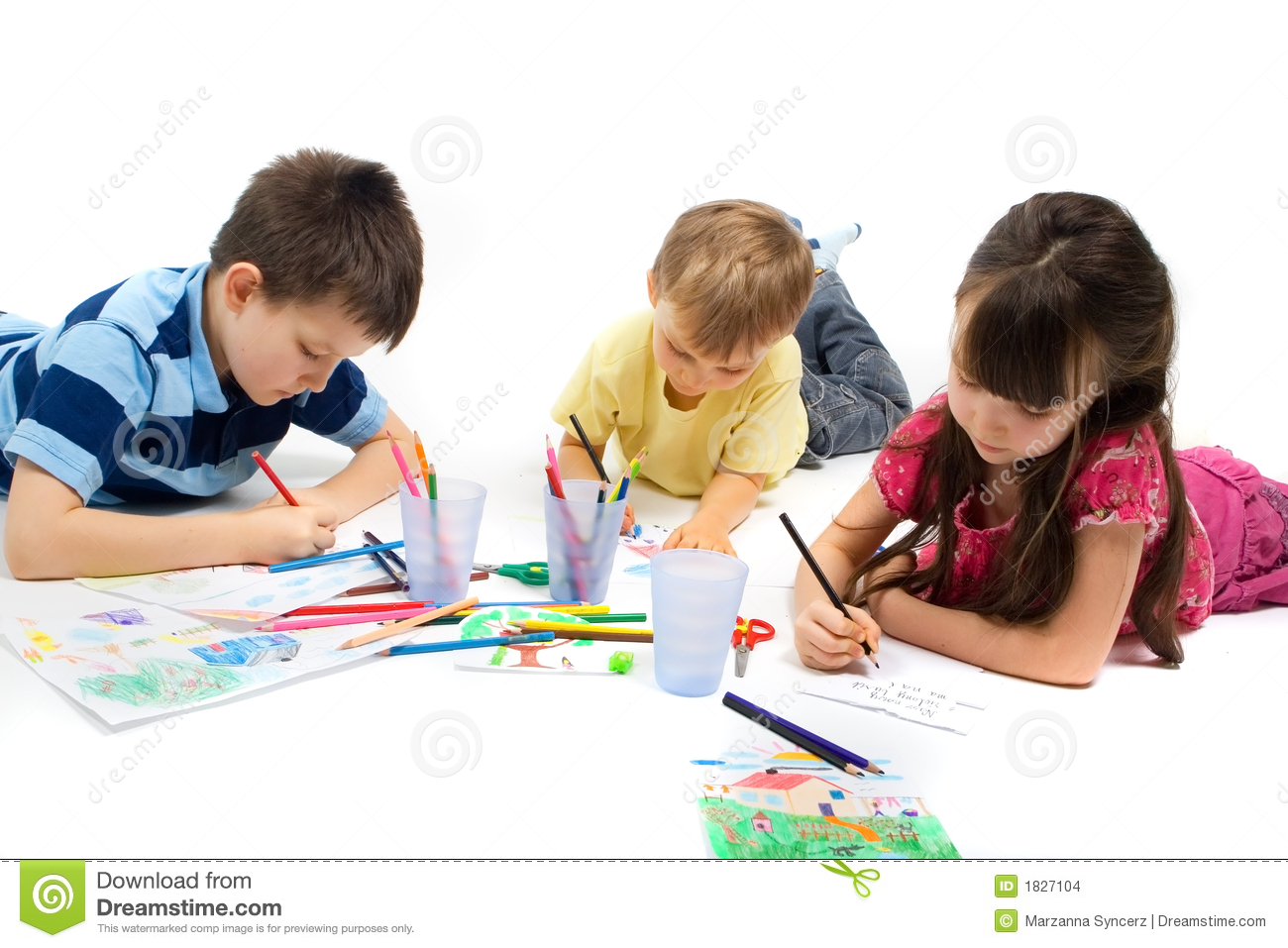 Children Drawing Stock Images Image 1827104