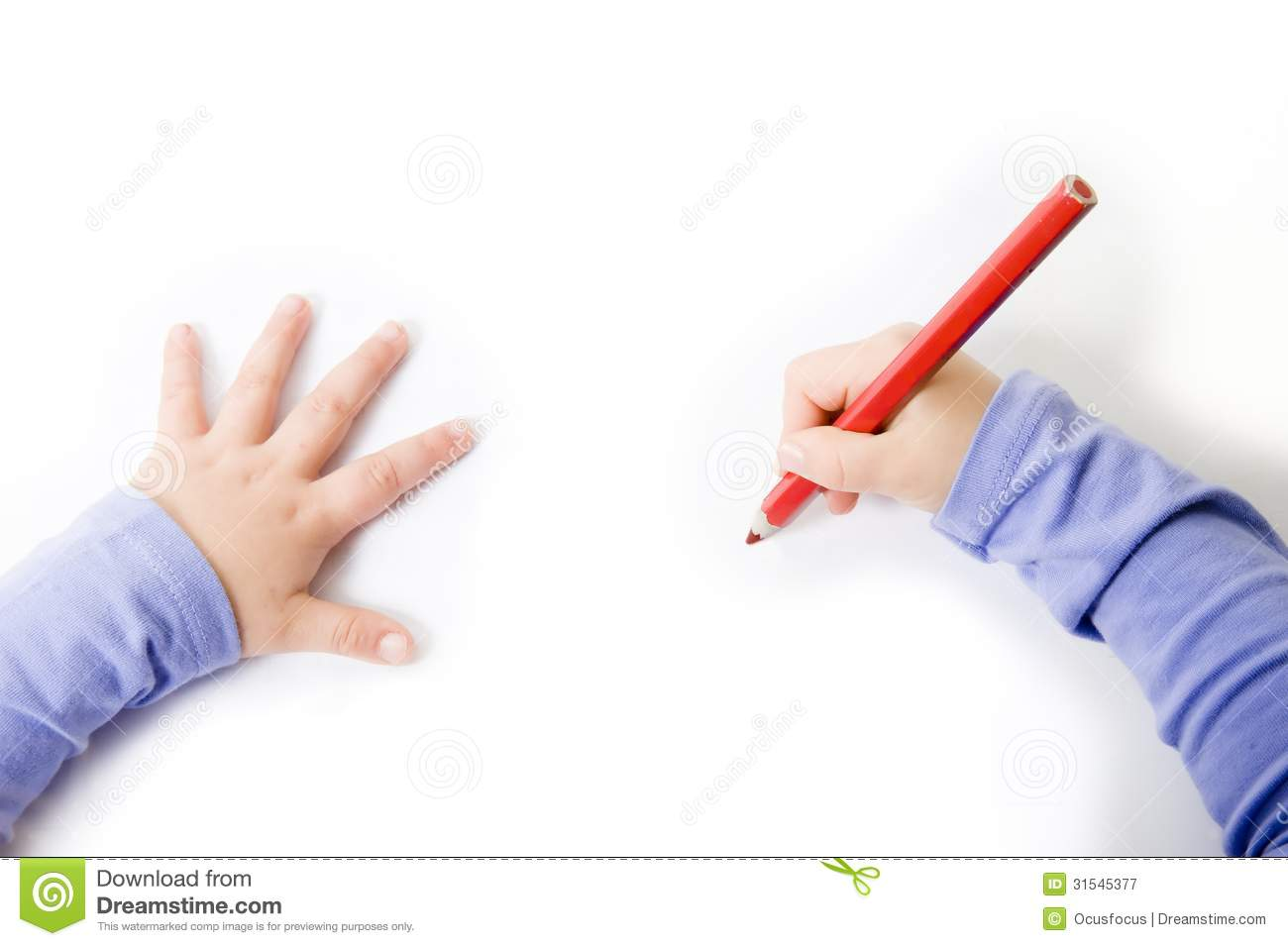 Children Drawing Or Writting Royalty Free Stock Photography - Image ...