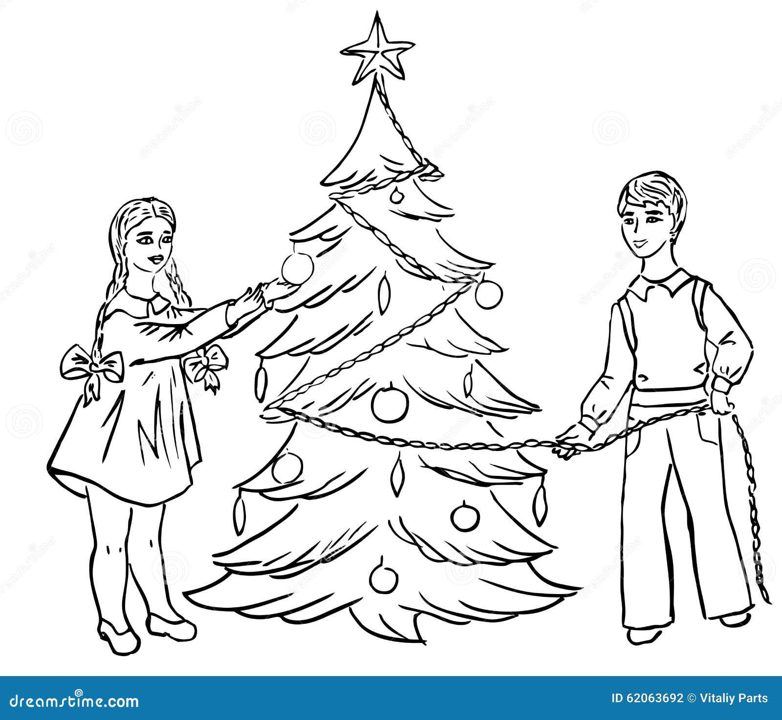 Christmas tree dress up images - Children Dress Up Christmas Tree