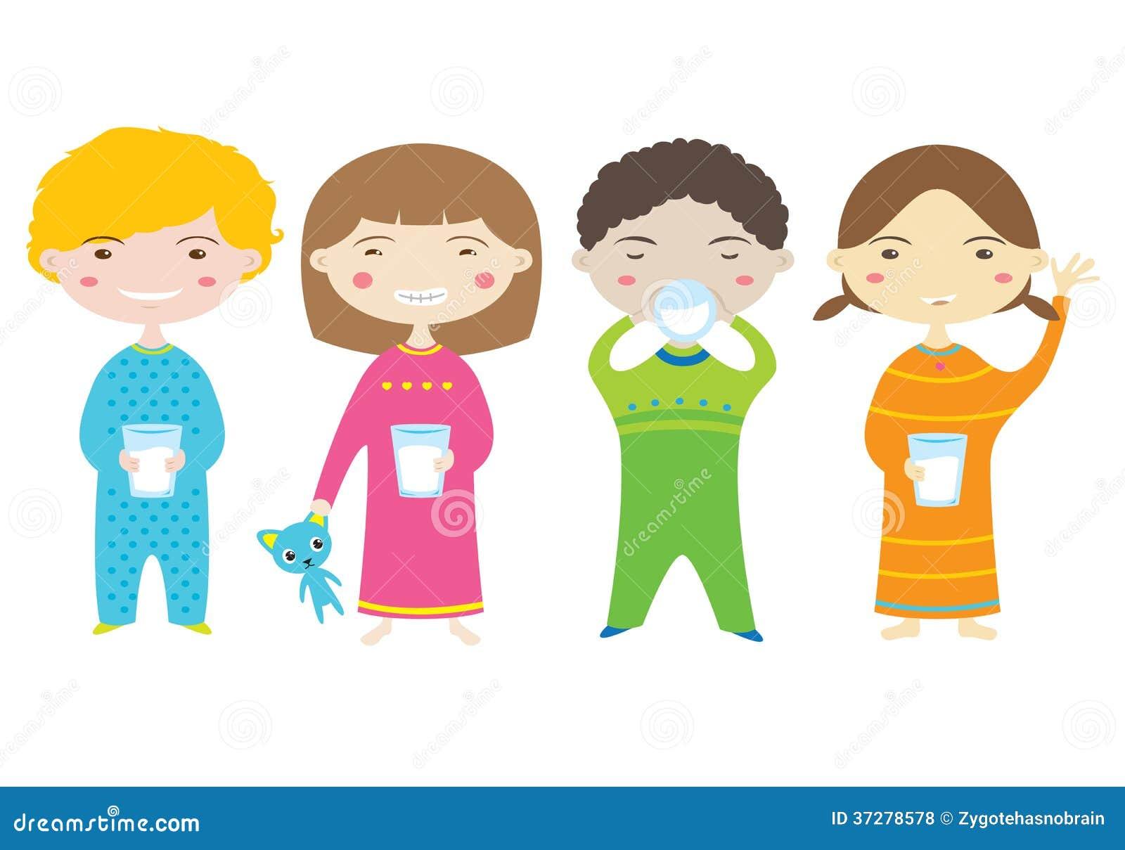 children drinking milk stock illustrations – 92 children drinking
