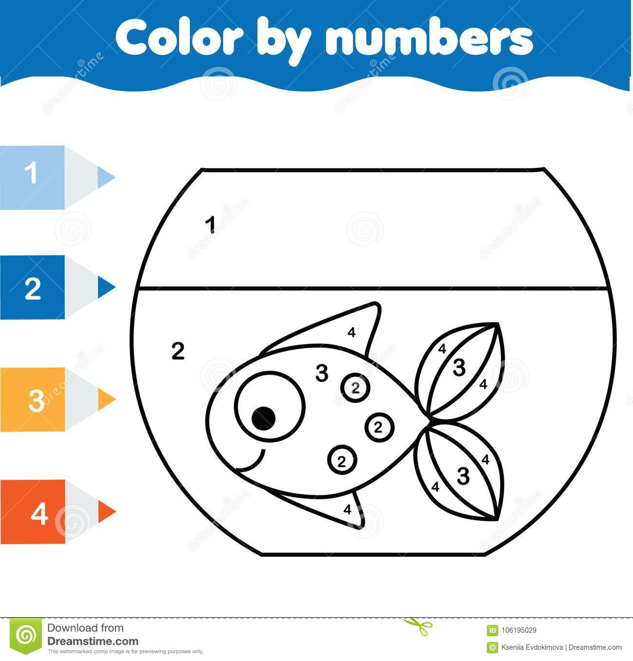 graphic about Printable Activities for Toddlers titled Little ones Useful Activity. Coloring Web page With Fish Within