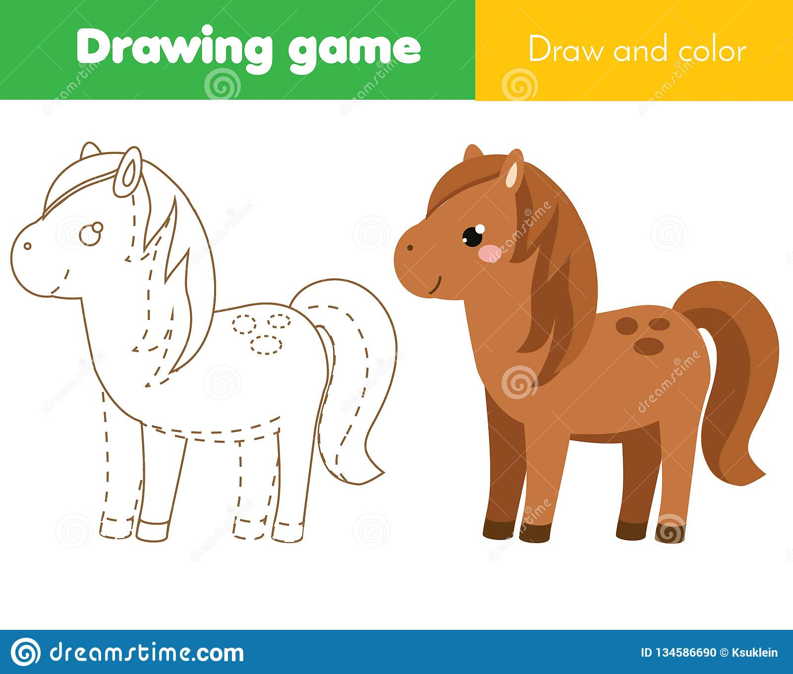 image about Horse Printable titled Youngsters Insightful Video game. Comprehensive The Envision. Coloring