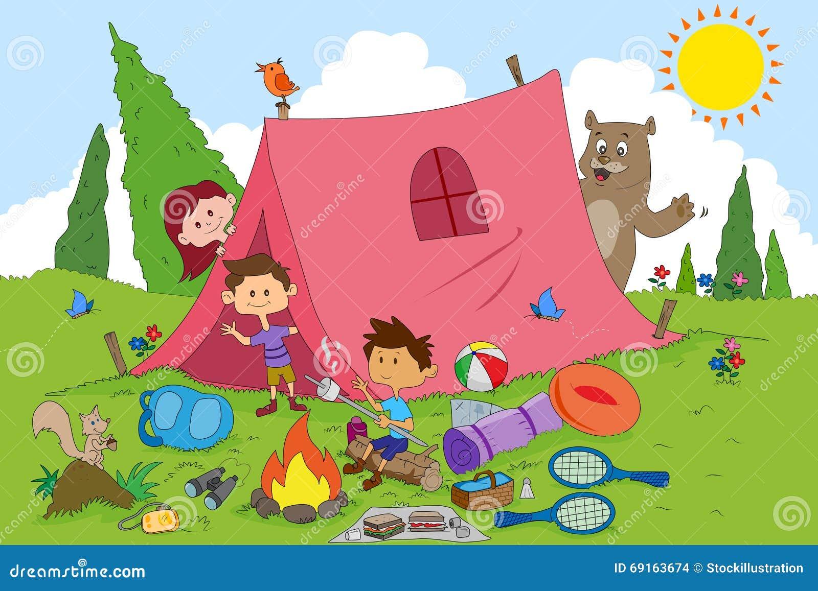 Children Enjoying Summer Camp Activities