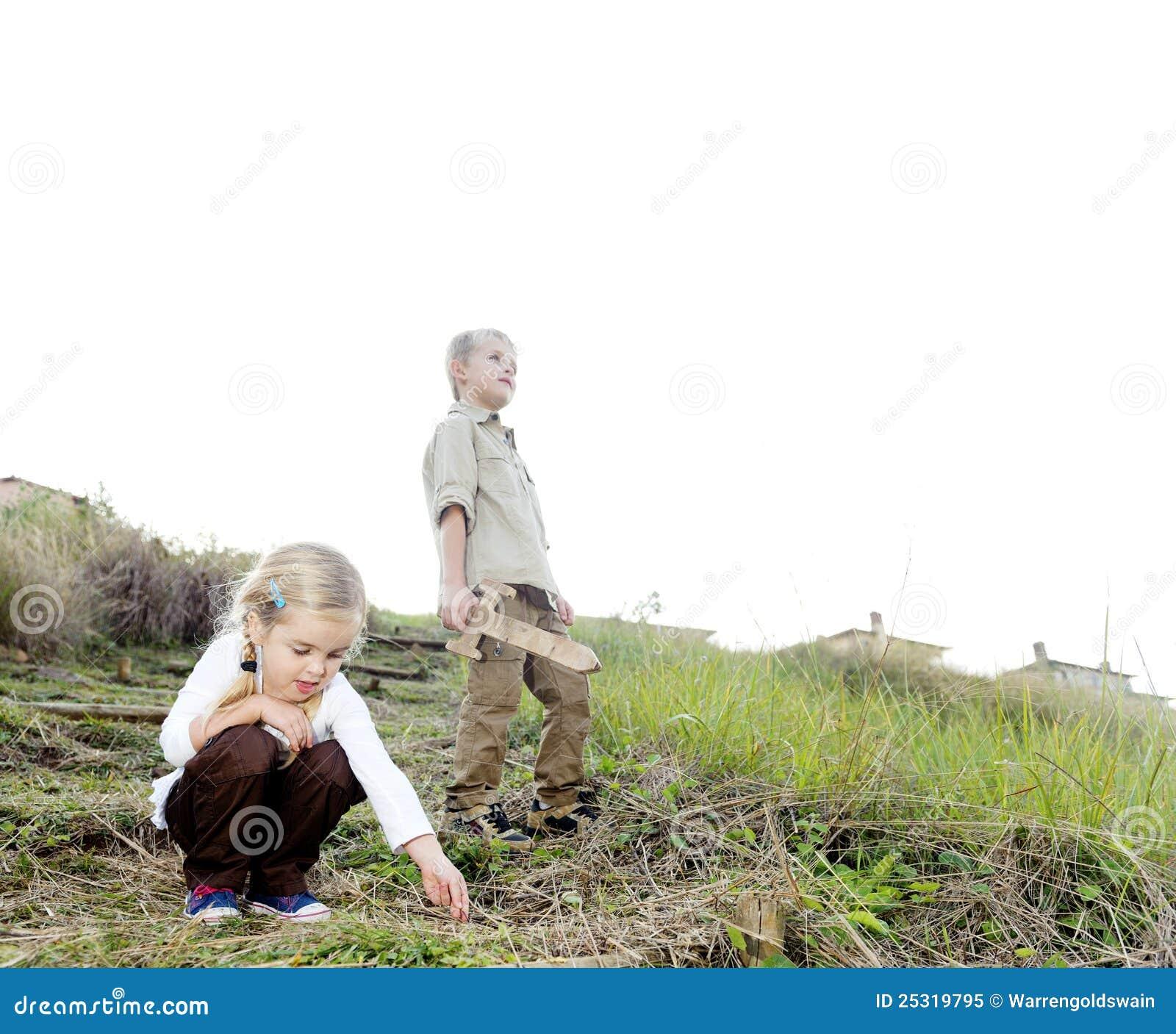 Children exploring