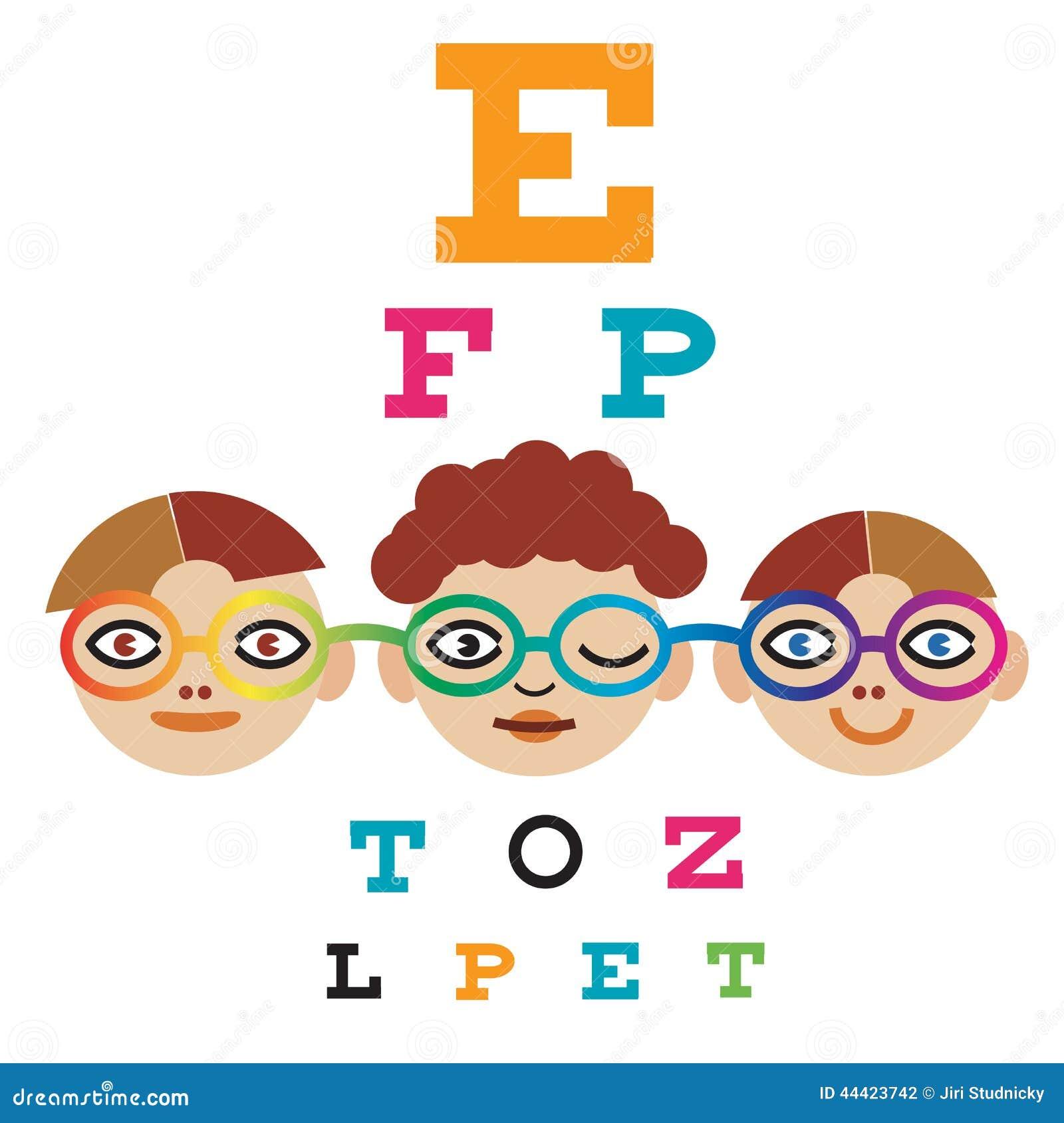 Children at the eye doctor stock vector illustration of health children at the eye doctor health medicine nvjuhfo Choice Image