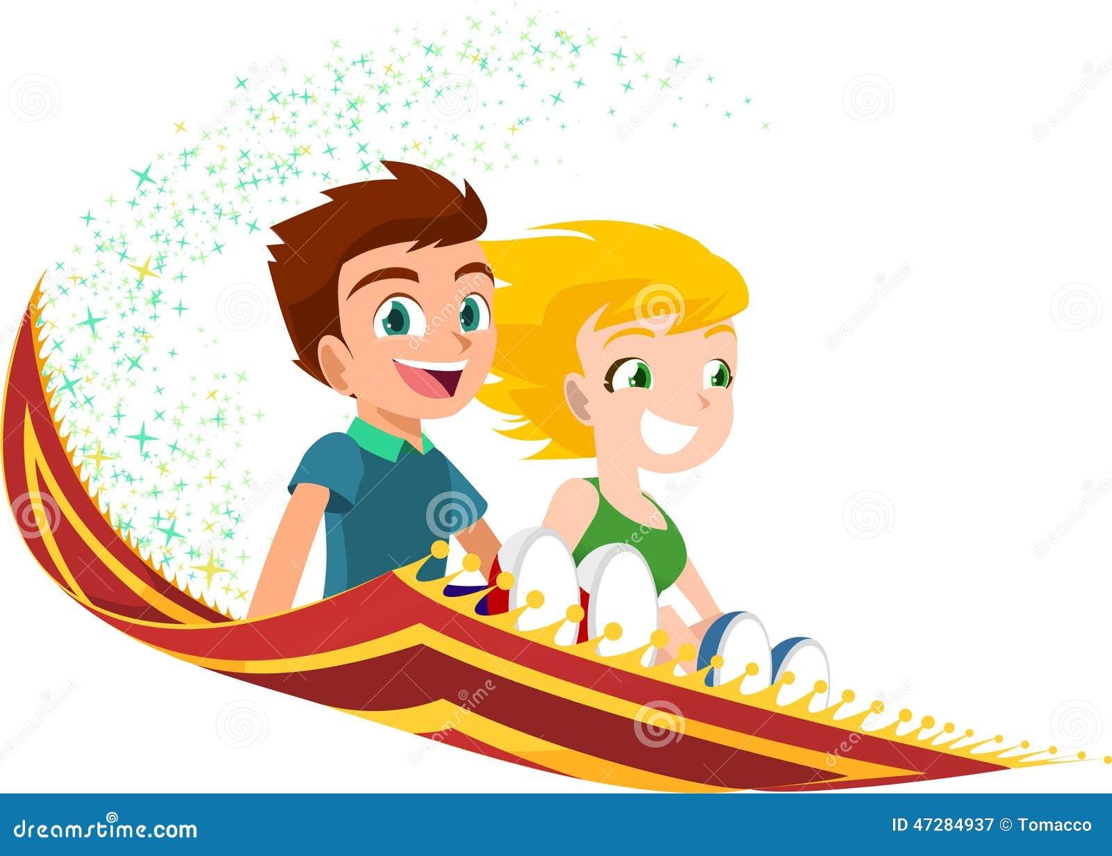 Children flying on a magic carpet stock illustration for Cartoon carpet