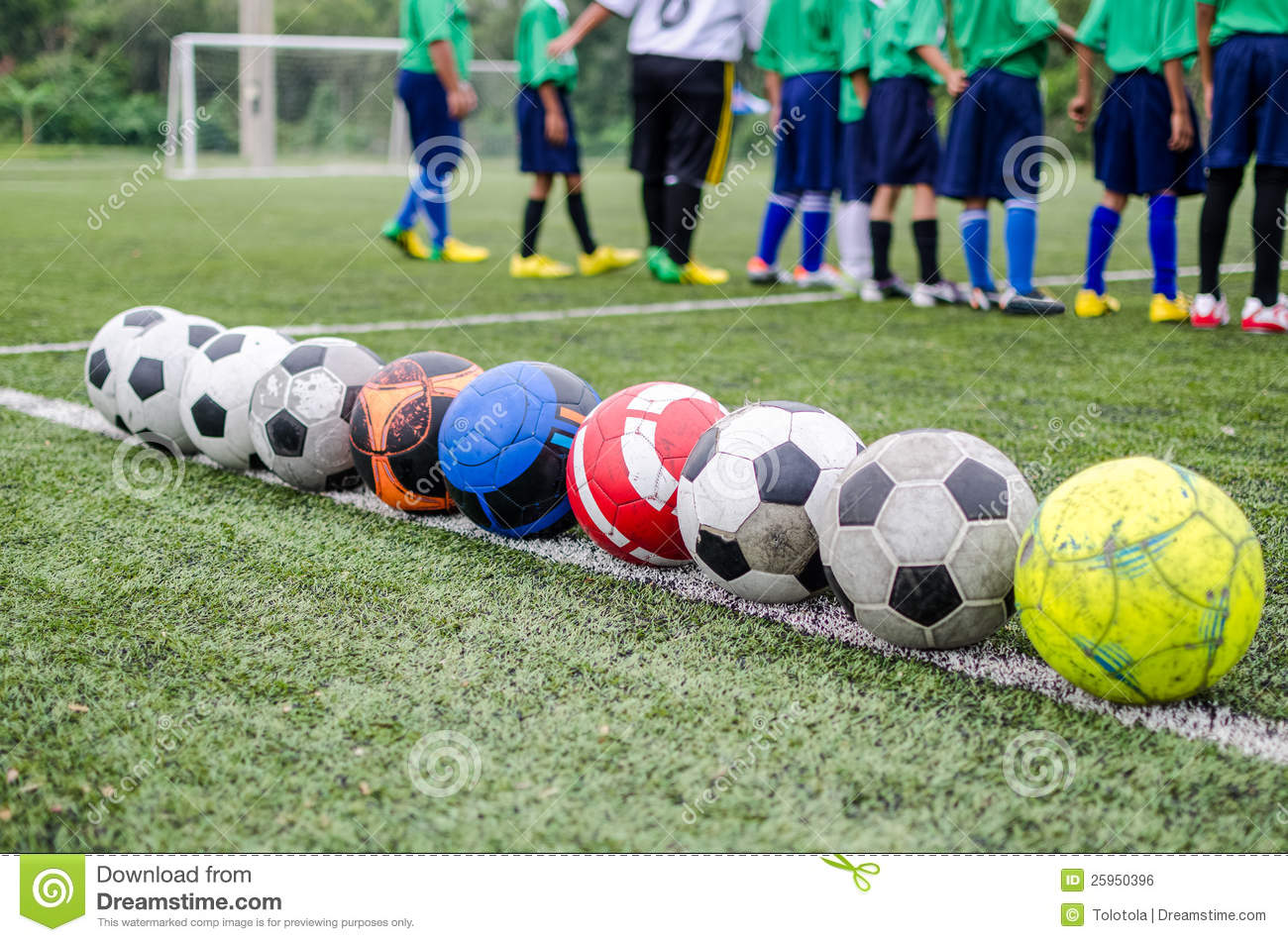 Children In Football Practice Training Royalty Free Stock ...