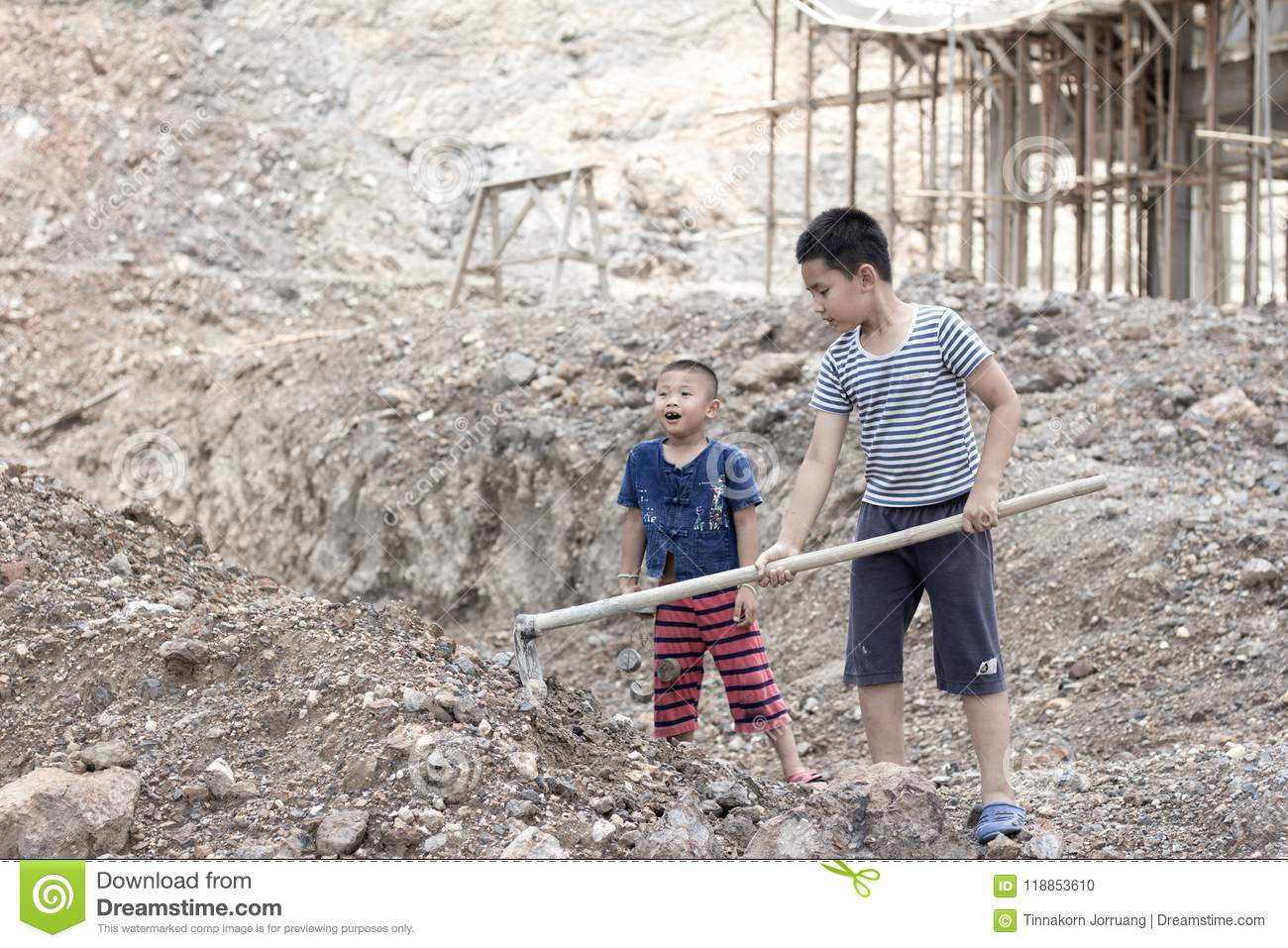 Poverty and dirt