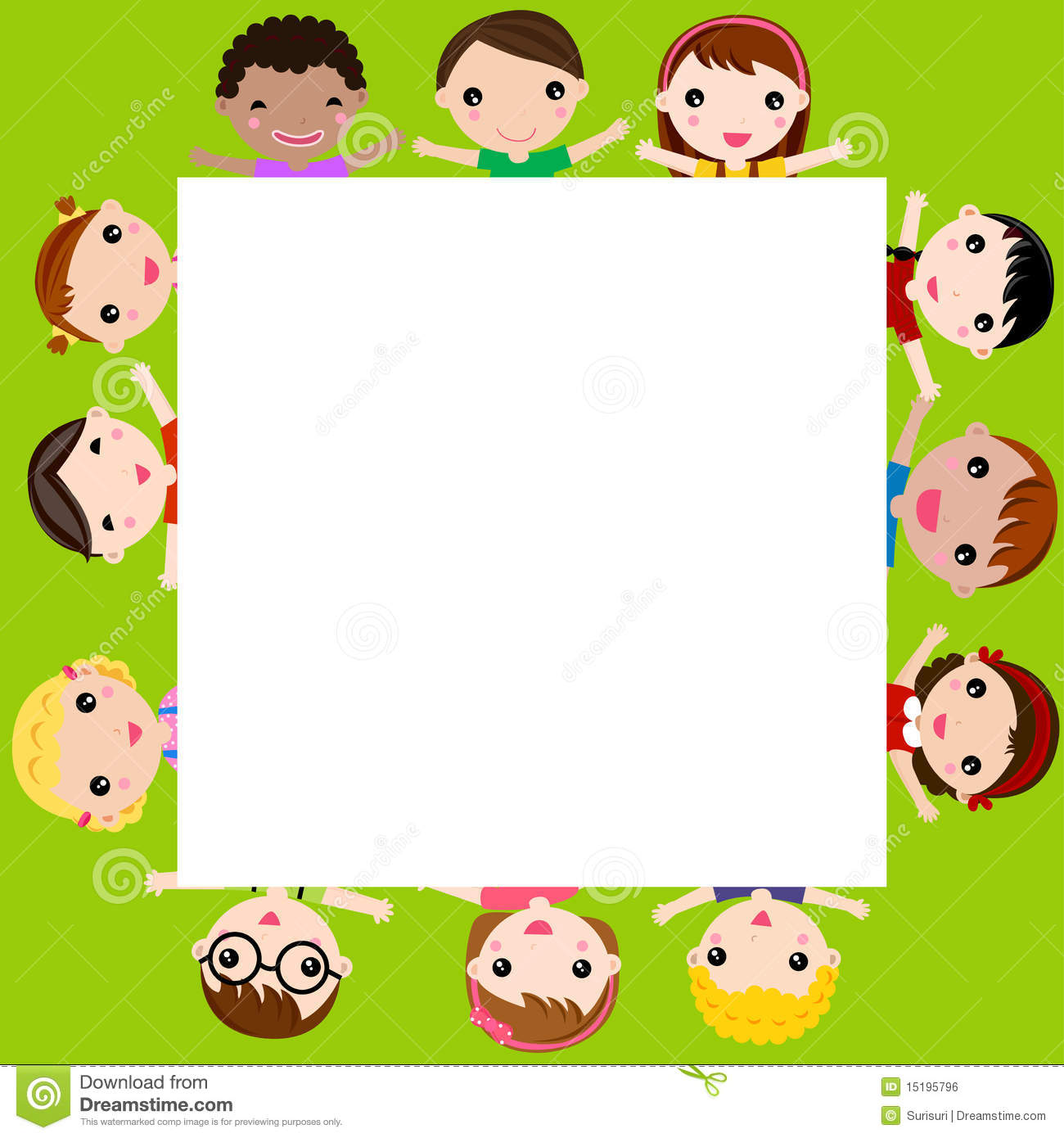 Children And Frame Royalty Free Stock Image - Image: 15195796