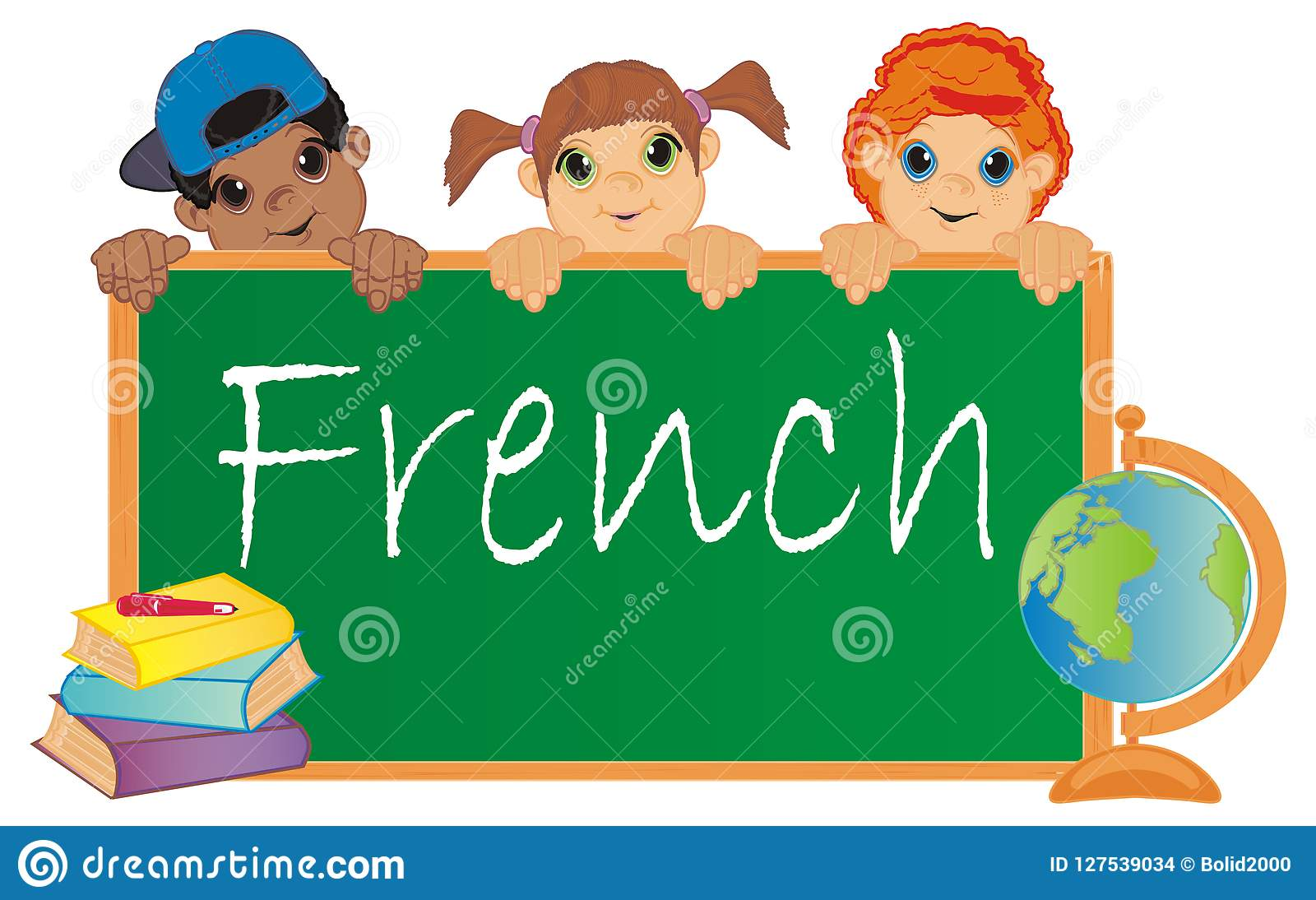 Image result for children learning french clipart