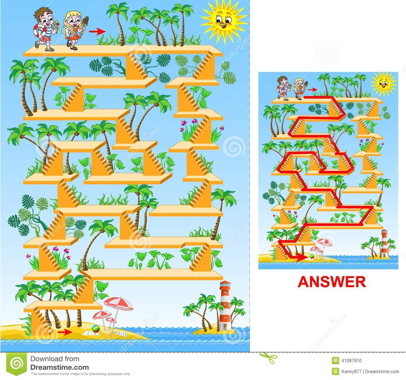 Frangipani spa flowers stock photo image 14654190 - Children Going To The Beach Maze Game For Kids Stock Vector Image