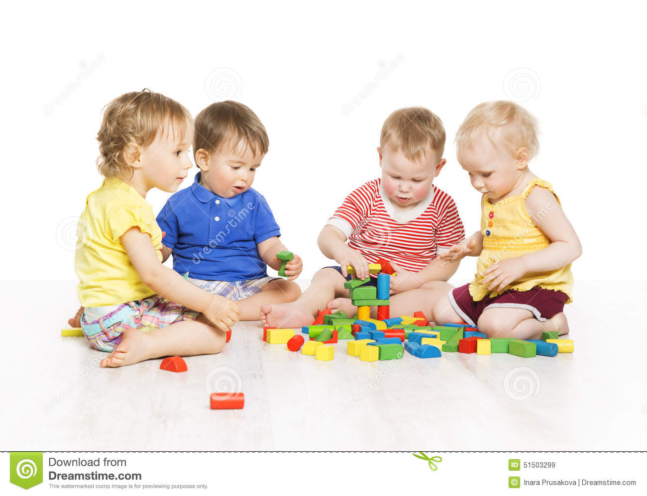 children group playing toy blocks little kids early development royalty free stock images - Free Children Images