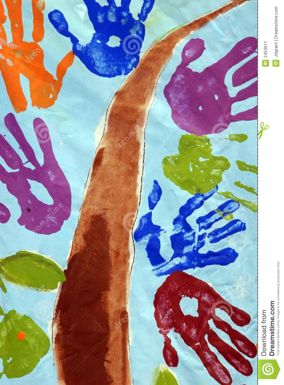 Children Hand Painting Stock Image Image 2453611