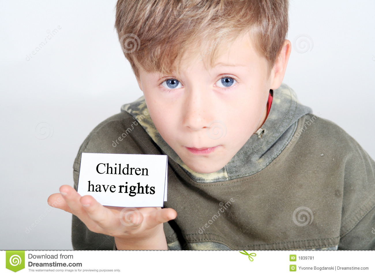 Children Have Rights Stock Image
