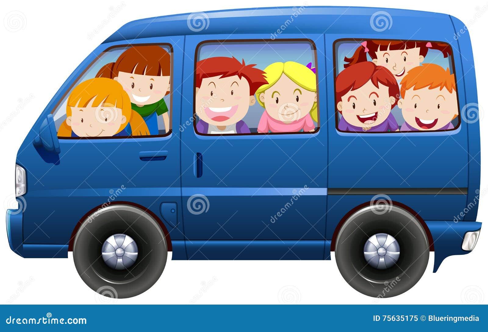 Van Clipart Children Having...