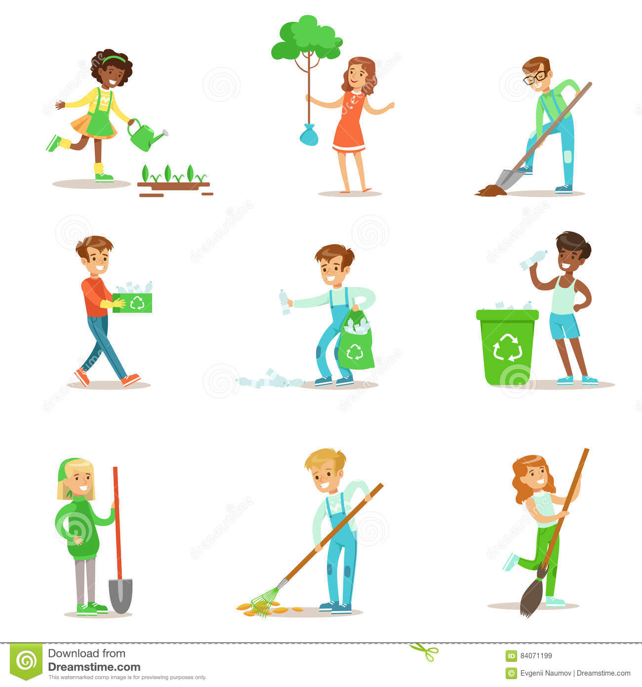 Children Planting Royalty Free Stock Image Cartoondealer
