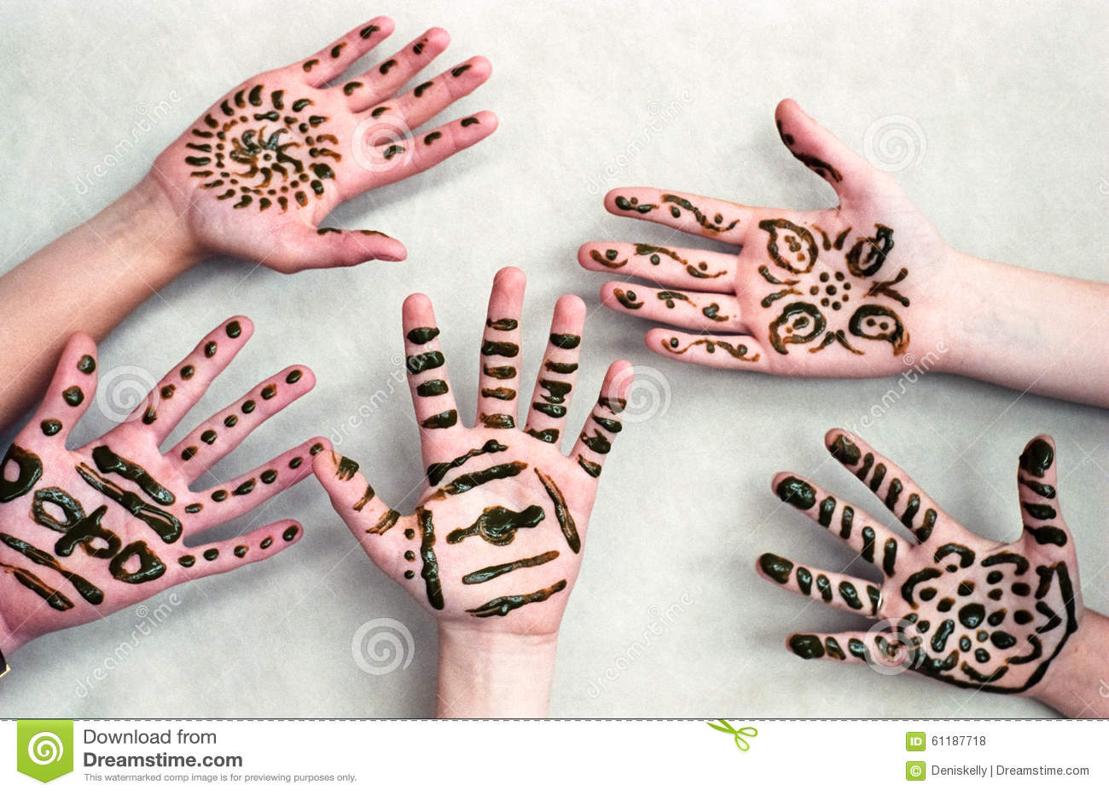 Mehndi Hands Xl : Children henna hands stock photo image of child