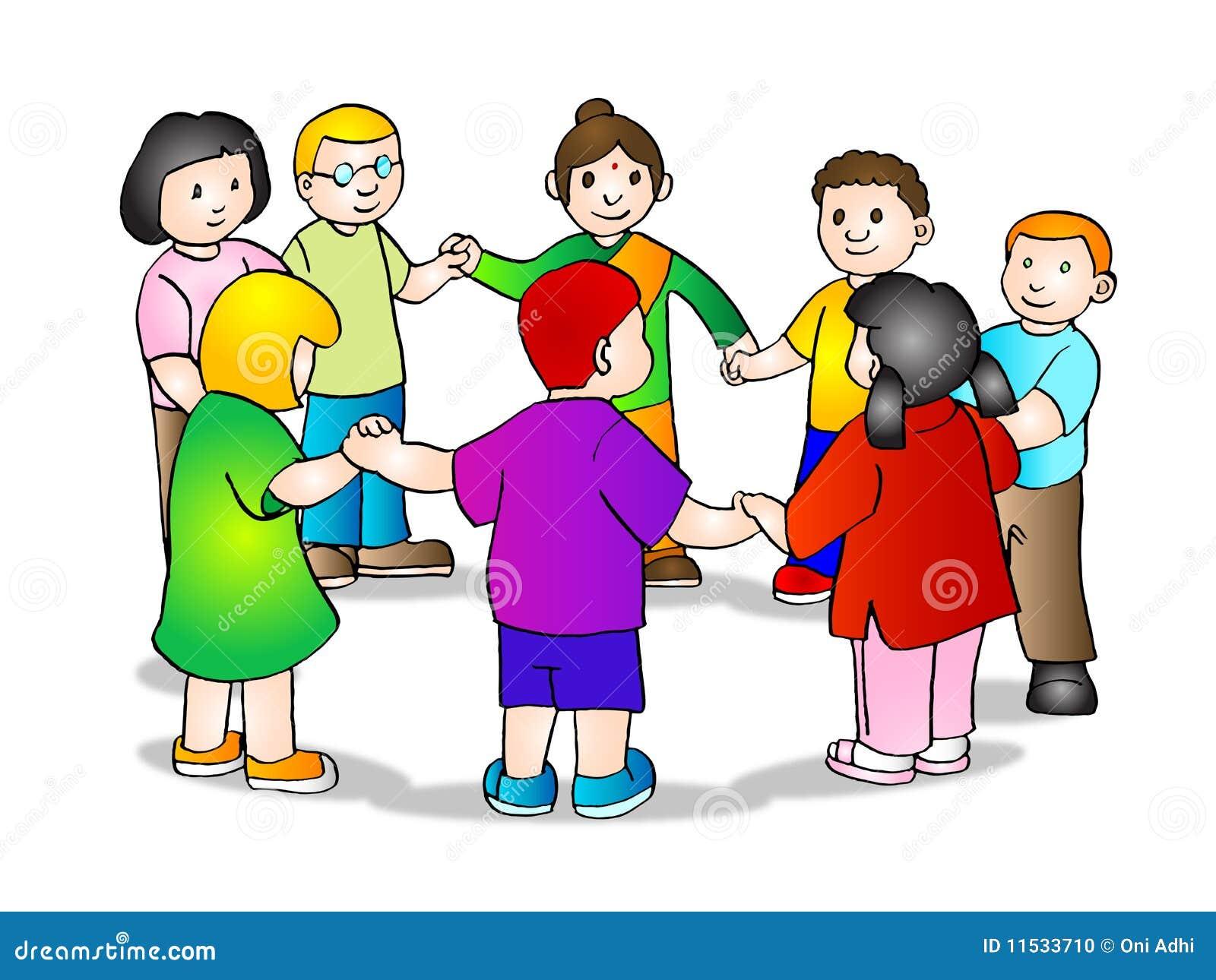 Children holding hands stock illustration Illustration of infants