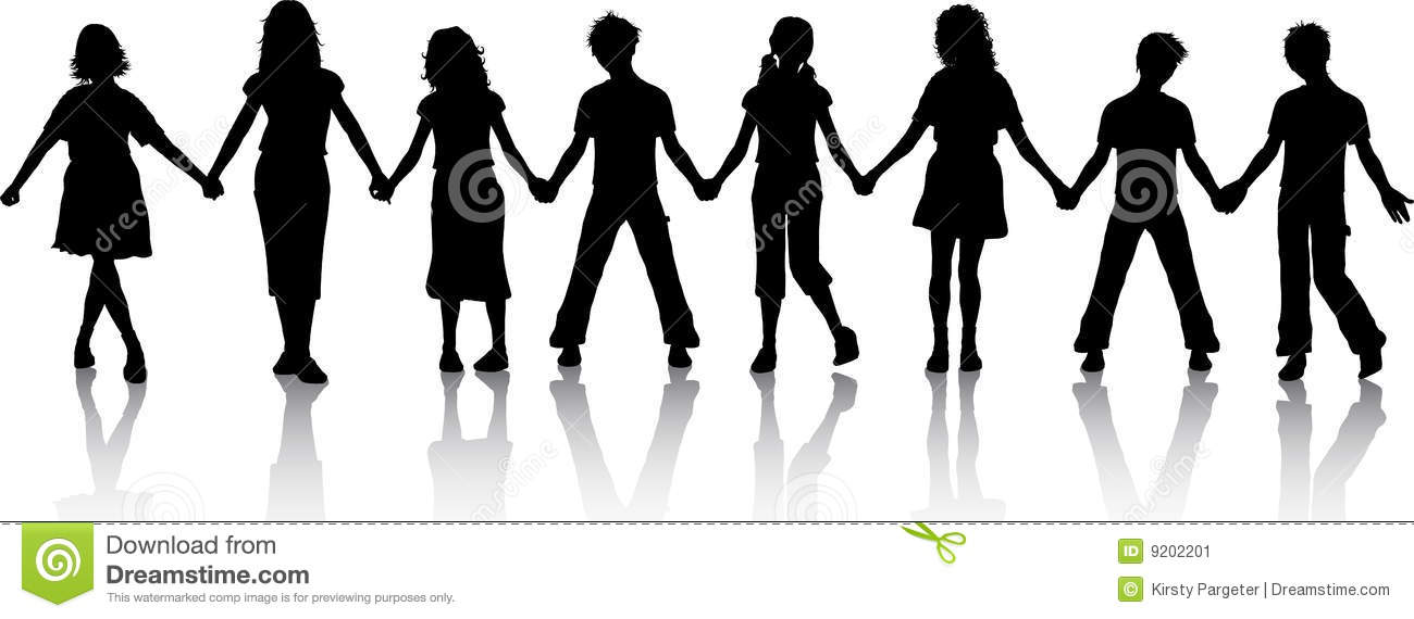 Children Holding Hands Stock Image - Image: 9202201