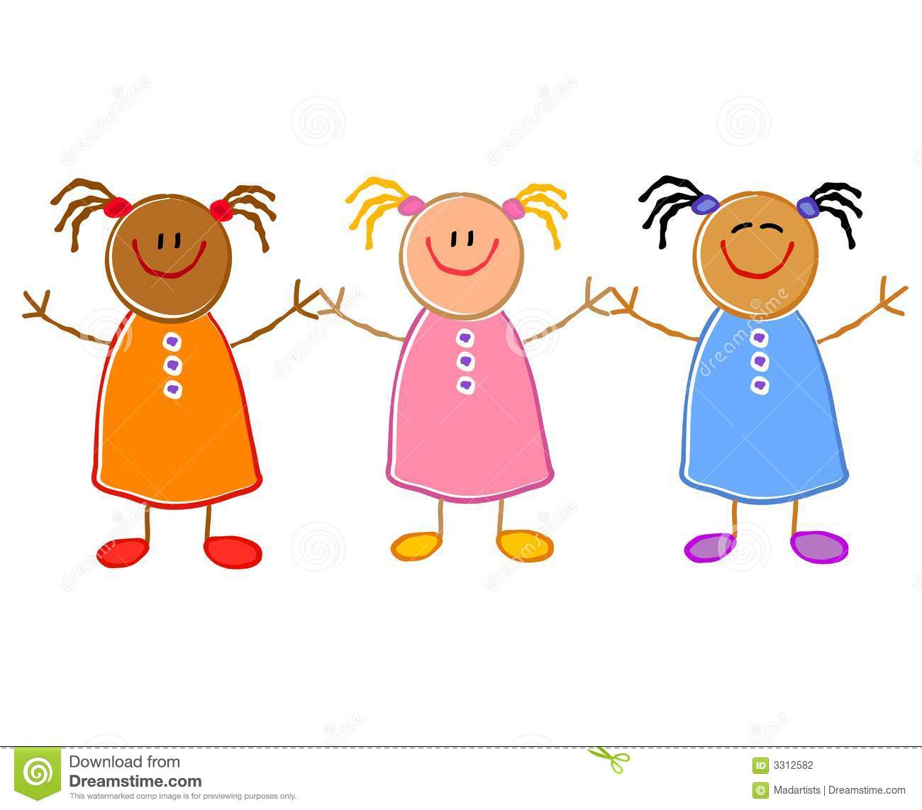 Children Holding Hands Group Stock Photography - Image: 3312582