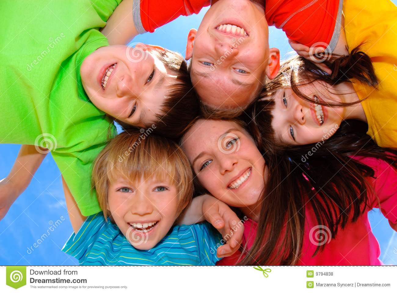 Children hugging stock photo. Image of expression, holding ...