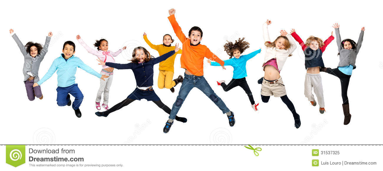 Children Jumping Royalty Free Stock Photo - Image: 31537325