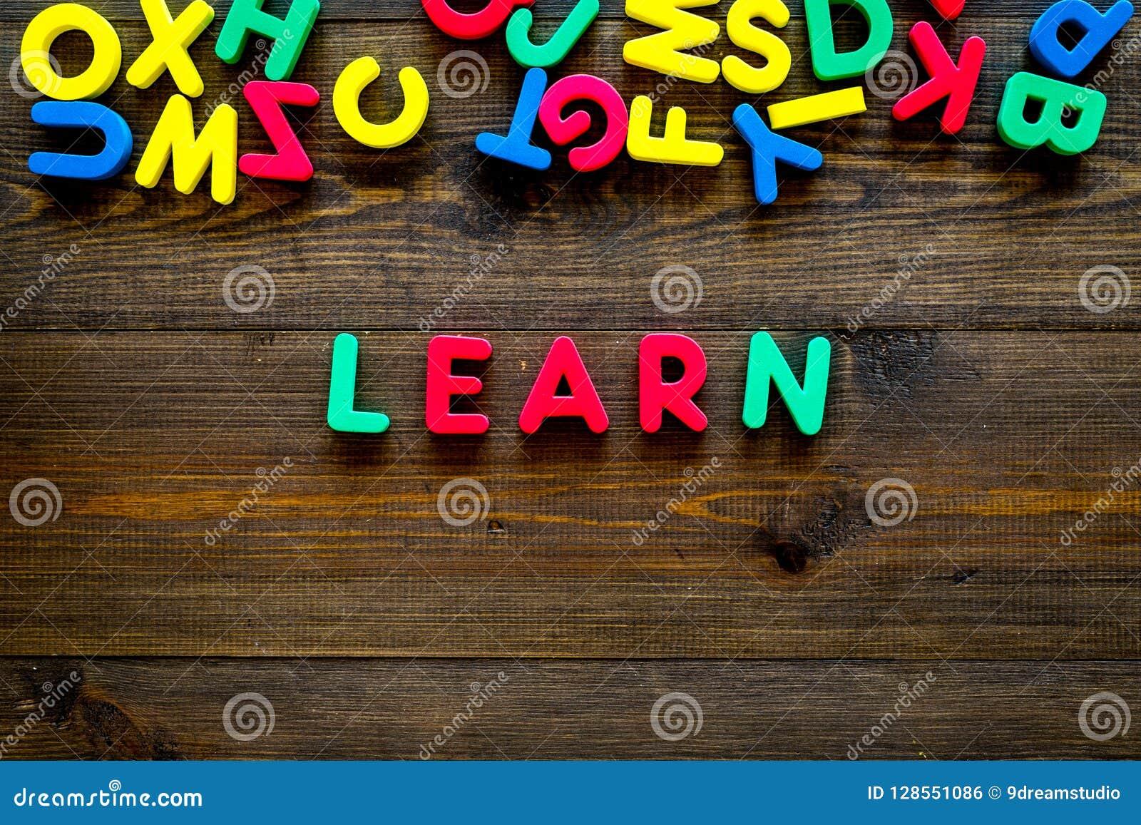 Children Learn Read Concept. Word Learn Written By Plastic ...