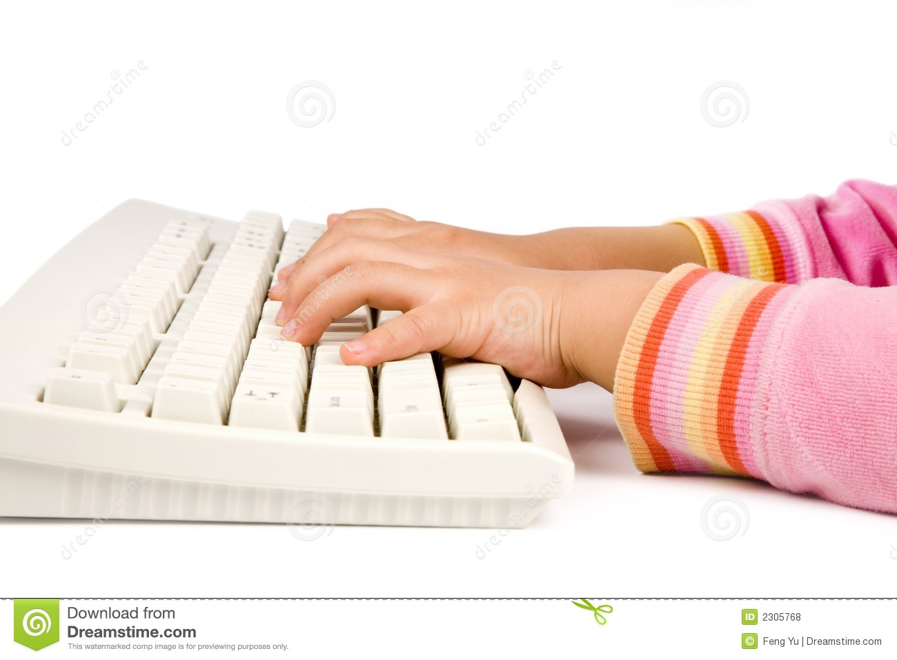 Children learning typing