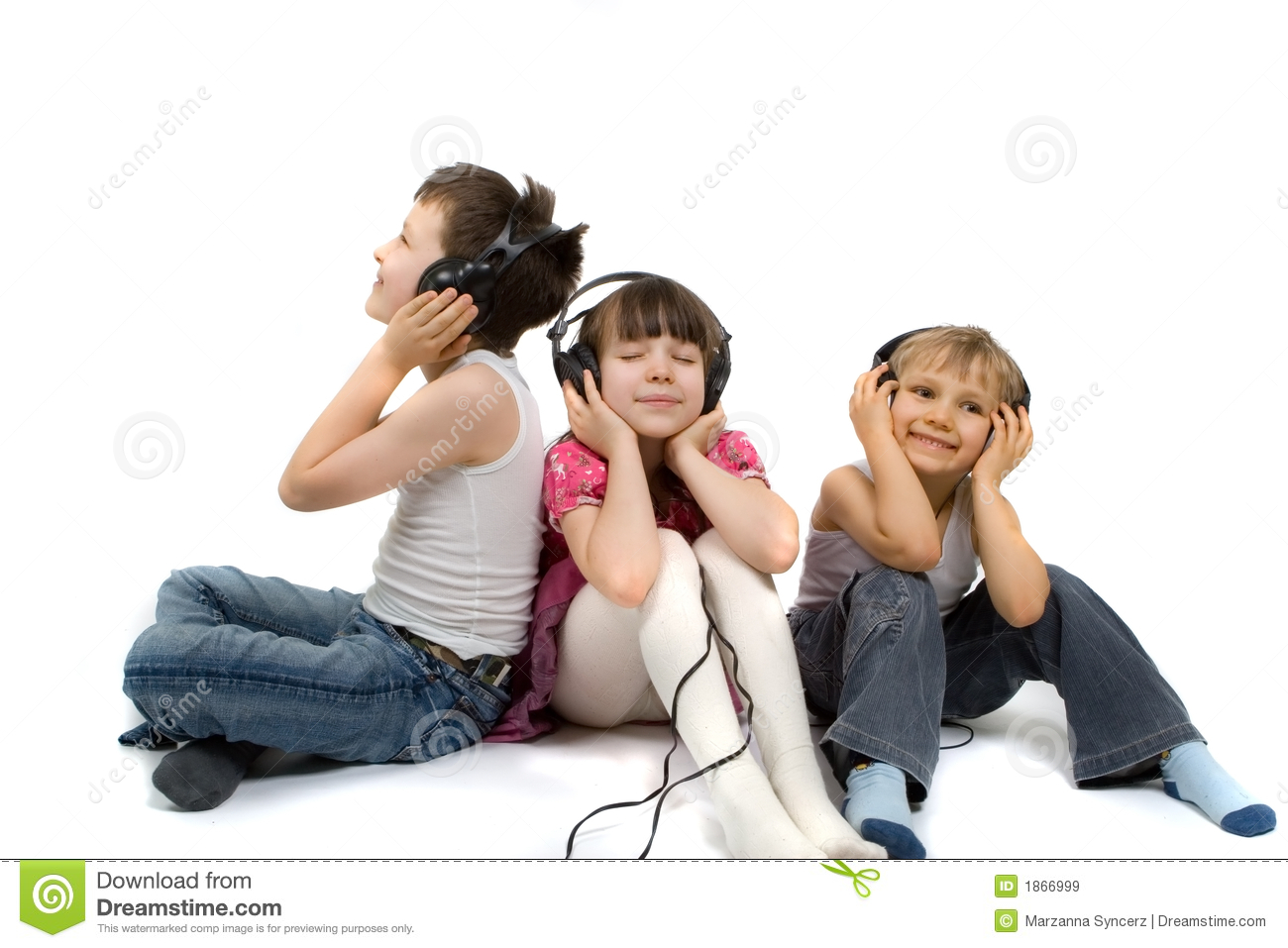Listen Clip Art Kids Listening to Music Clip