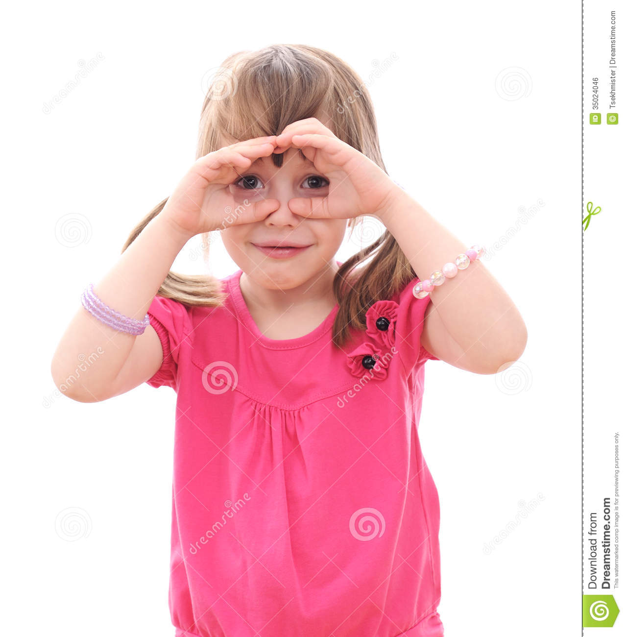 Children Looking Through Imaginary Binoculars Royalty Free Stock Image ...