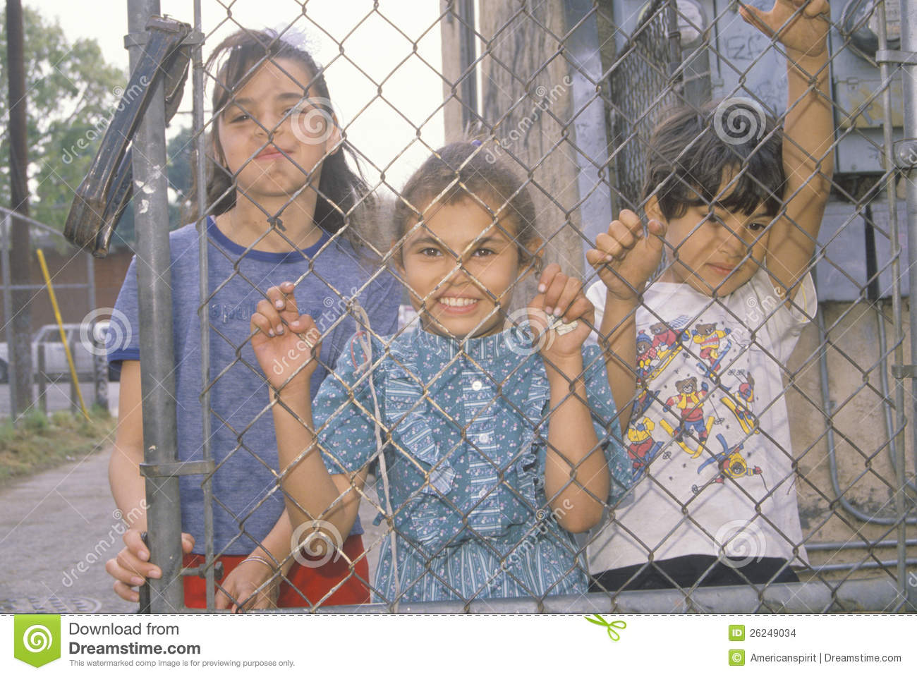 Children In A Los Angeles Ghetto Editorial Stock Image